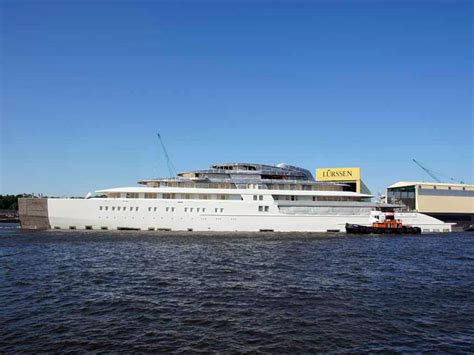 who owns the biggest boat in the world world s largest yacht azzam launches business insider