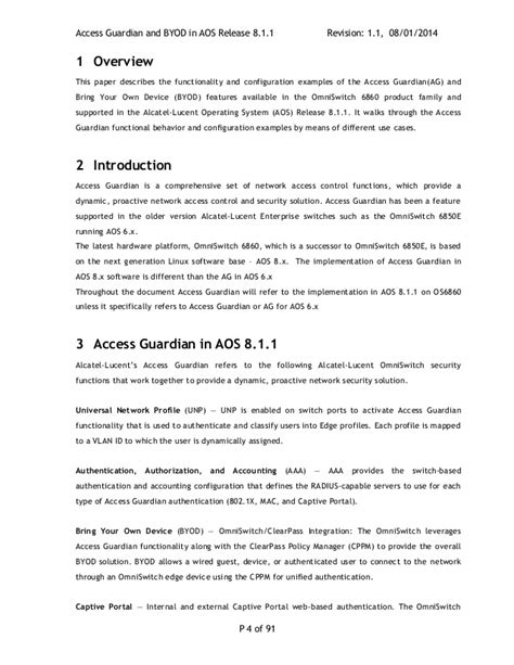 byod policy template alcatel lucent omniswitch 6860 e aos 8 1 1 access guardian