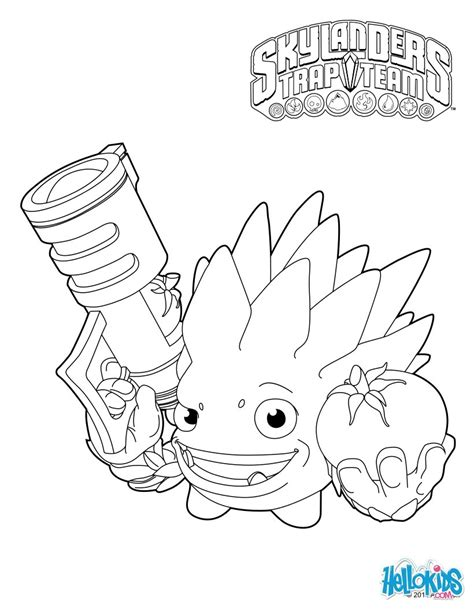 skylanders trap team coloring pages food fight