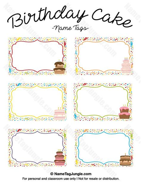 name the template free printable birthday cake name tags the template can