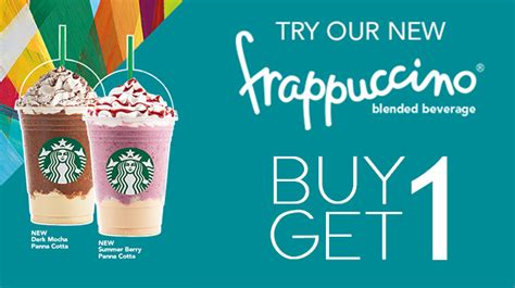 Buy Starbucks Gift Card Discount - starbucks frappuccino and friends buy 1 get 1 promo ednything