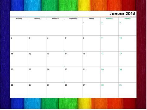 Kalender 2016 Monatsweise Kostenlose Kalendervorlagen 2016 Office Lernen