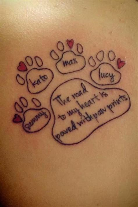 animal tattoo sayings looking for a paw print tattoo tattoos beautiful