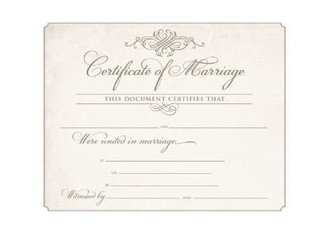 wedding certificates templates 9 best images about souvenir wedding commitment