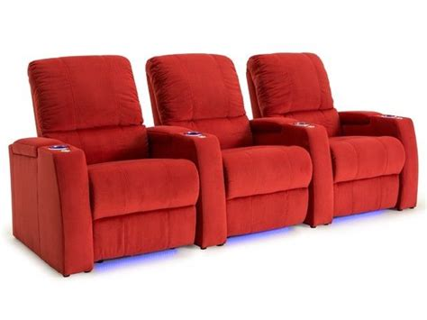 seatcraft innovator home theater seating row of 3 sofa w seatcraft aspen bella fabric home theater seating power