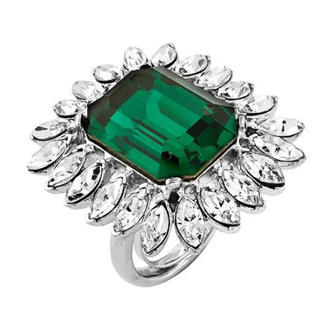 kenneth faux emerald green ring