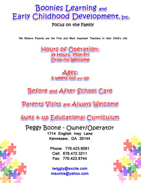 free child care flyer templates boonies childcare flyer design images frompo