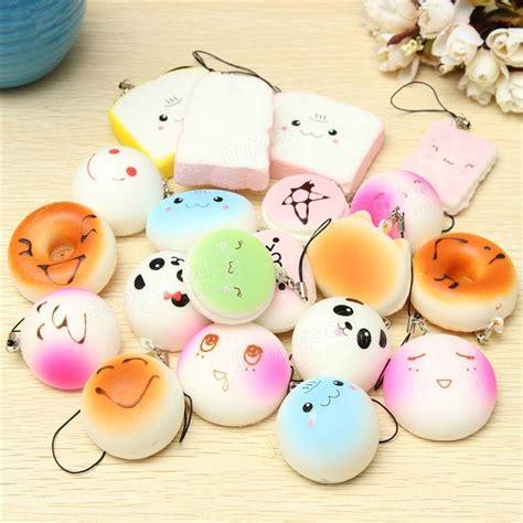 Squishy Mini Colour Emoticon Bun 20pcs Random Medium Mini Squishy Soft Panda Bread Cake