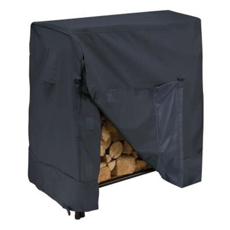 Log Rack Covers Home Depot classic accessories 4 ft firewood rack cover 52 068