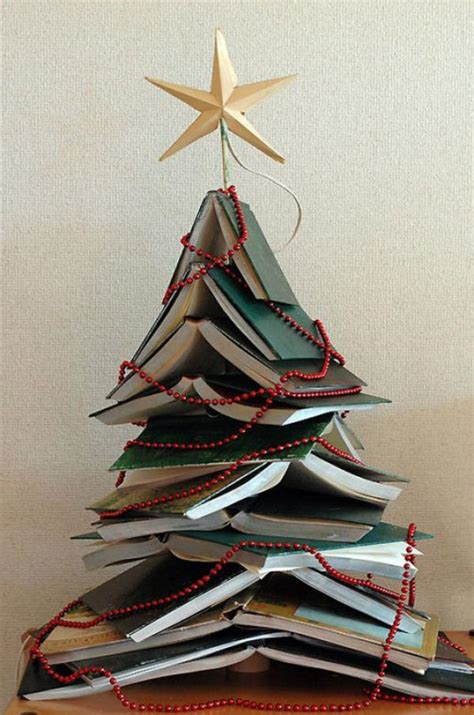 christmas tree books 30 christmas tree diy ideas art and design