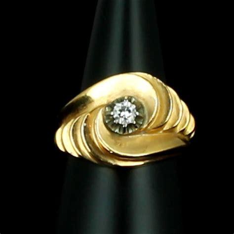 Bague Or Jaune 18k Anne 1950 Diamant 0,15 Carat