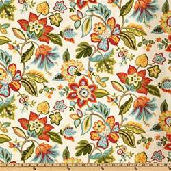 Waverly Fabric Curtains Waverly Wonderama Floral Toucan Discount Designer Fabric Fabric