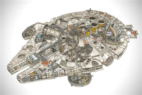 star wars cross sections incredible cross sections of star wars hiconsumption