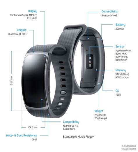 Samsung Gear Fit2 Gear Fit 2 Small Black samsung brings freedom and to your fitness with the