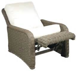 Outdoor Patio Recliner by Hauser Coastal All Weather Wicker Recliner With Cushions