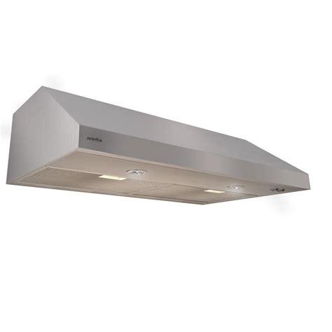 36 under cabinet range hood arietta segrino 36 in under cabinet range hood in