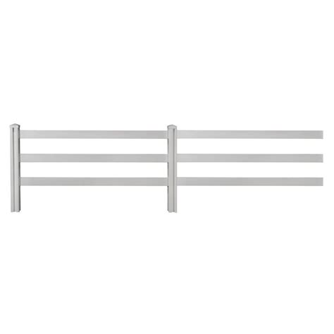 home depot decorative fence wambam fence 4 ft x 7 ft decorative vinyl 3 rail fence