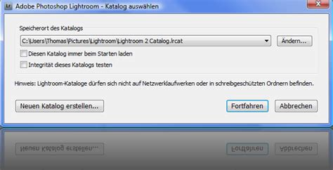 lightroom tutorial katalog photoshop lightroom mit der auswahl des katalog starten