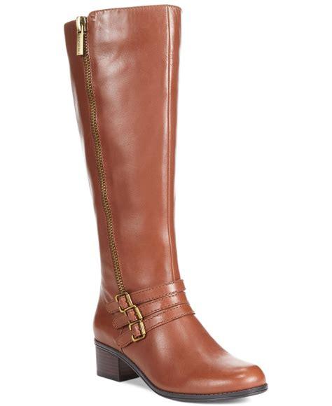 bandolino boots bandolino carsononia wide calf boots in brown