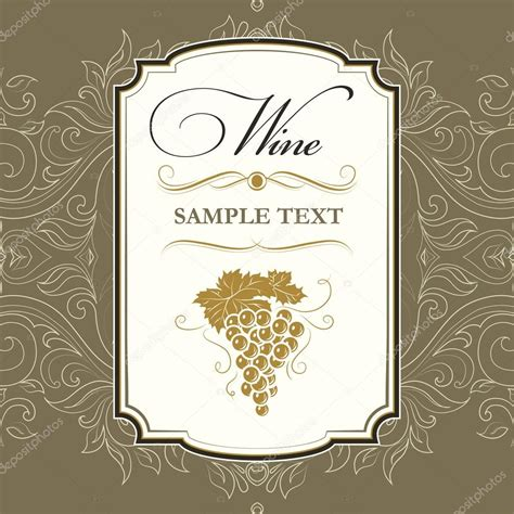 wine bunch of grapes for labels of wine stock vector