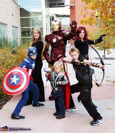 halloween themes for families avengers family costumes