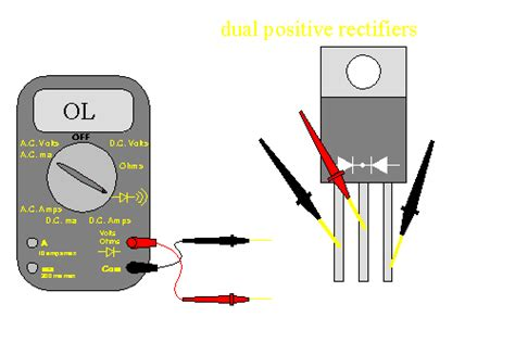how to test if a diode is defective speaker load and lifier failure
