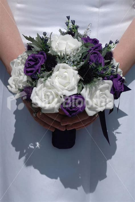 artificial wedding flowers glasgow purple white scottish bouquet w purple