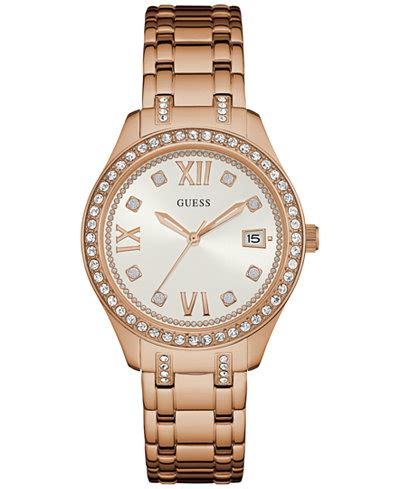 guess s waverly gold tone stainless steel