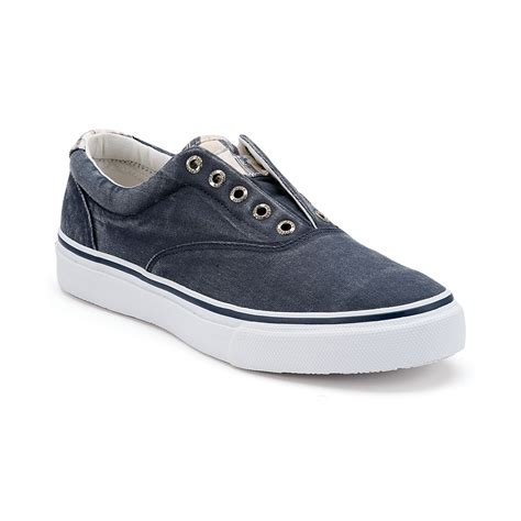 sperry sneakers mens sperry top sider striper laceless sneakers in blue for