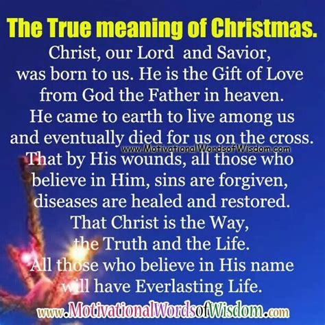 what is the real meaning christmas christian
