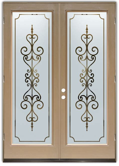 Door Glass Design Entry Doors With Frosted Glass Designs Sans Soucie Glass