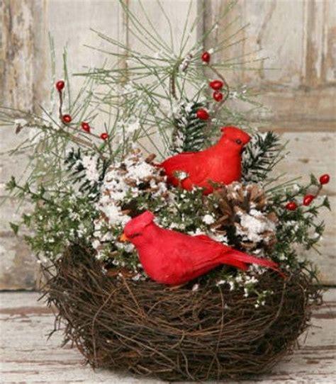 Bird Cage Home Decor cardinal birds country primitive and twig centerpieces on