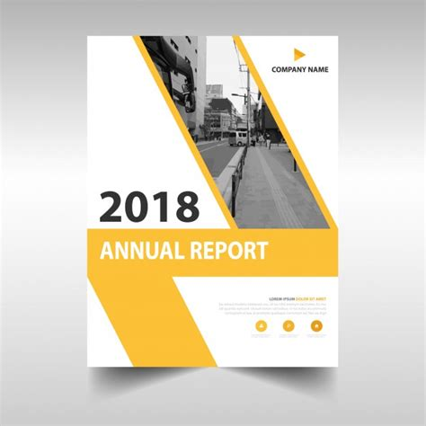 annual report book cover design yellow creative annual report book cover template vector