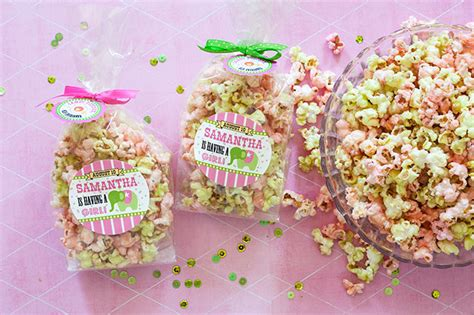 Popcorn Baby Shower Favors by Circus Baby Shower Popcorn Favors Evermine Occasions