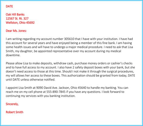 authorization letter for account authorization letter for bank how to write it 6 free