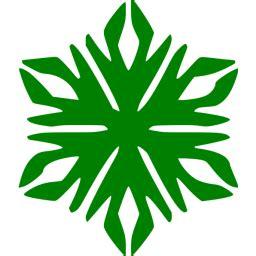 green snowflake  icon  green snowflake icons
