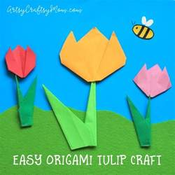 Simple Origami Flowers For Kids - easy origami tulip craft for kids artsy craftsy mom