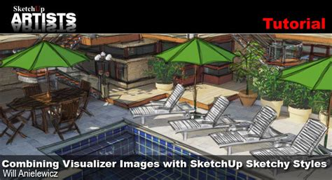 sketchup layout styles download combining visualizer images with sketchup sketchy styles