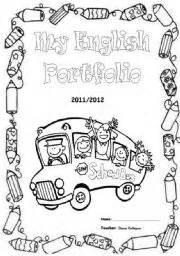 teaching worksheets portfolio cover