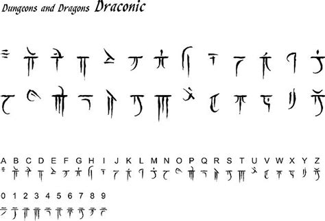 d amp d draconic script fonts and languages pinterest a