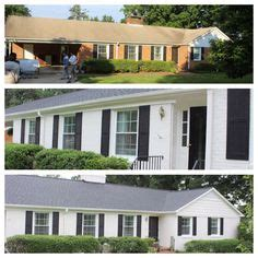 brick house renovation before and after home reno before and after on pinterest home renovations before after and home