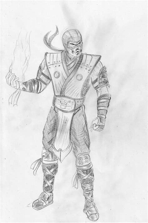 Mortal Kombat X Sketches by Mortal Kombat Sub Zero Free Coloring Pages