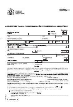 contrato general de empleo descargue plantillas de modelos contrato de trabajo fijo discontinuo modelo