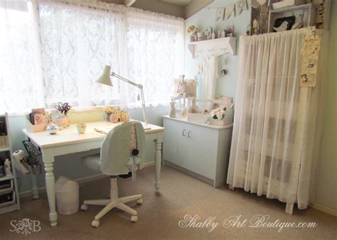 organization shabby chic craft room with vintage feel