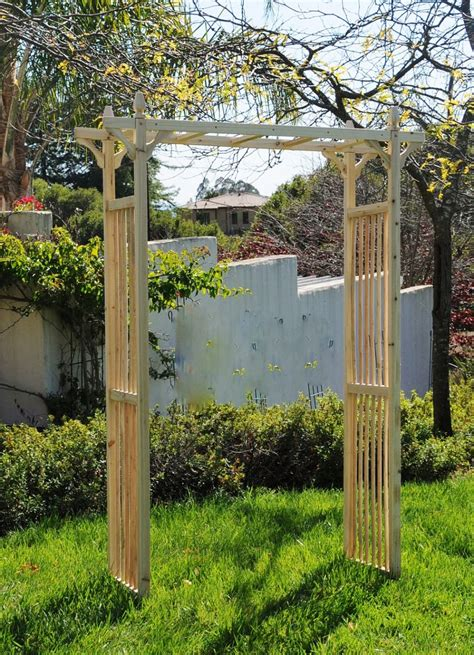 how to build an arbor trellis outdoor wooden arbors home landscapings how to build