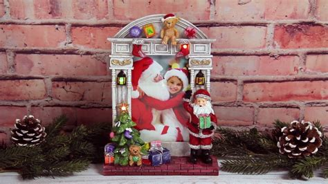 light up pictures light up 4 quot x 6 quot santa claus resin picture frame