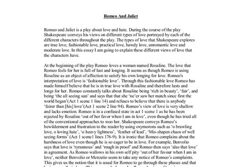Conclusion To Essay On Romeo And Juliet by And Essay On Romeo And Juliet