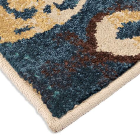 Bright Aztec Rug by Orian Rugs Bright Color Aztec Turkman Blue Area Small Rug