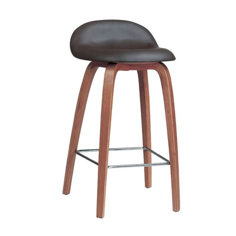 bar stools with back support nspire rio counter stool walnut disc 203 358 modern