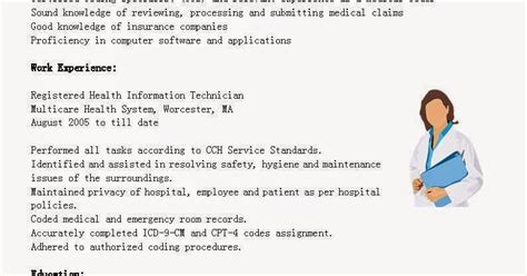 Registered Health Information Technician Cover Letter by Great Sle Resume Resume Sles Registered Health Information Technician Resume Sa
